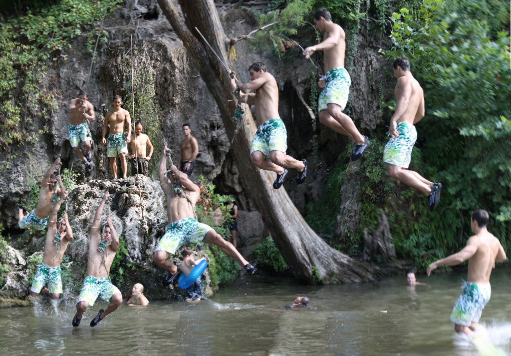 Time lapse of the Krause Springs rope swing.